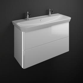 plan de toilette en c ramique avec meuble sous vasque et eclairage sfft120 meubles de salle de. Black Bedroom Furniture Sets. Home Design Ideas