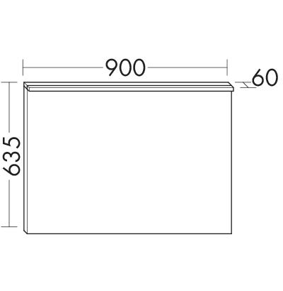 Miroir avec clairage led horizontal siha090 meubles de for Miroir horizontal salon
