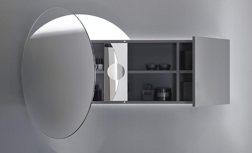 Meubles de salle de bain s rie coco burgbad for Spiegelschrank rund