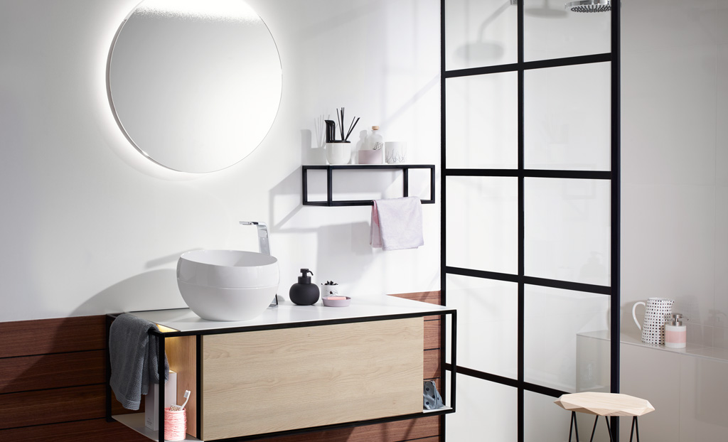 meubles de salle de bain s rie junit burgbad. Black Bedroom Furniture Sets. Home Design Ideas